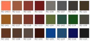 ヤネフレッシュは色の種類が20色以上!あなたの好きな屋根のカラーを選べます